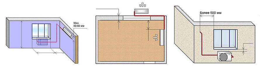 Установка внутреннего блока